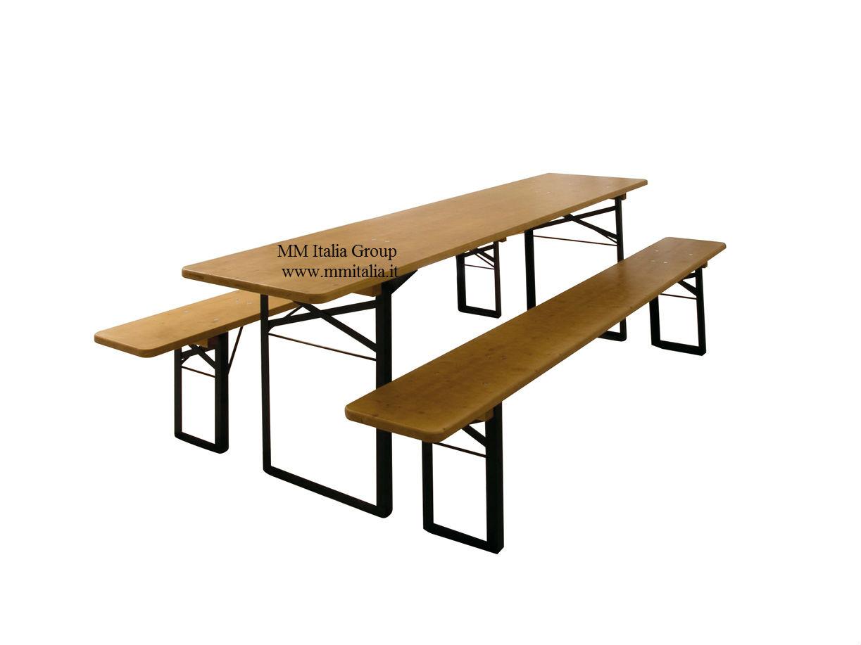 Mm italia panche e tavoli pieghevoli panche e tavoli di birreria 80 x 220 set birreria per - Panche e tavoli pieghevoli ...
